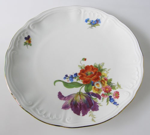 Frühstücksteller 19 cm Blumendekor Mohn und Goldrand Wundsiedel Retsch
