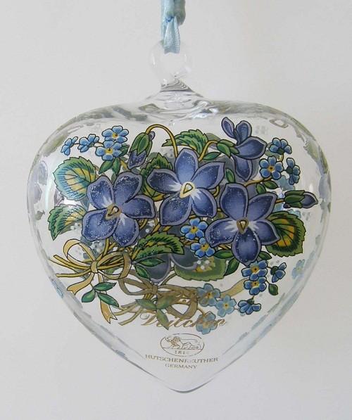 Hutschenreuther Kristall Herz 1996 Veilchen