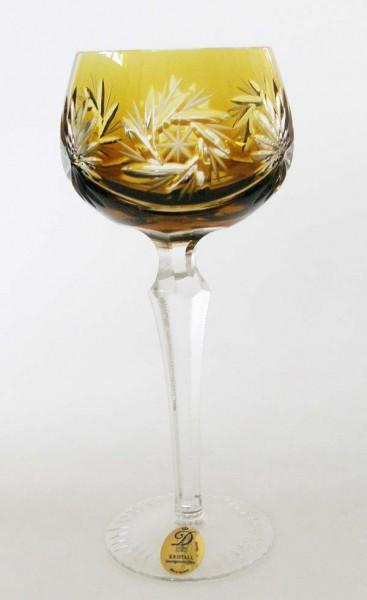 Dresden Crystal Römer Überfangglas Weinrömer Bernstein 19,5 cm