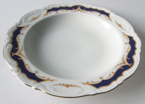 Mitterteich Form 2000 Kobalt mit Golddekor Suppenteller 23 cm