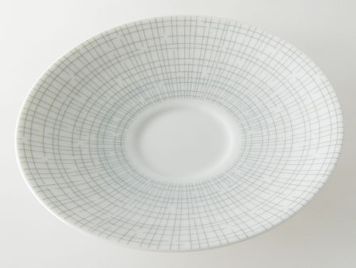 Arzberg Bastdekor Form 2025 grau-grün Filigran Untertasse 13 cm