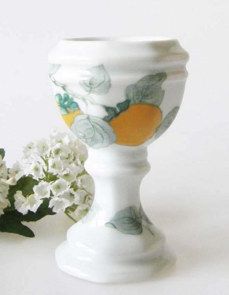 Gallo Galerie de Porcelane Lombardia Apricot Eierbecher auf Fuß 10 cm
