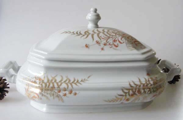 Gallo G.de Porcelaine Leonardo Fougere Goldfarn Terrine 2-tlg. 2,50 l