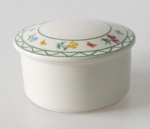 Villeroy & Boch Casa Verde Bonboniere Porzellan Dose mit Deckel Höhe 6,5 cm