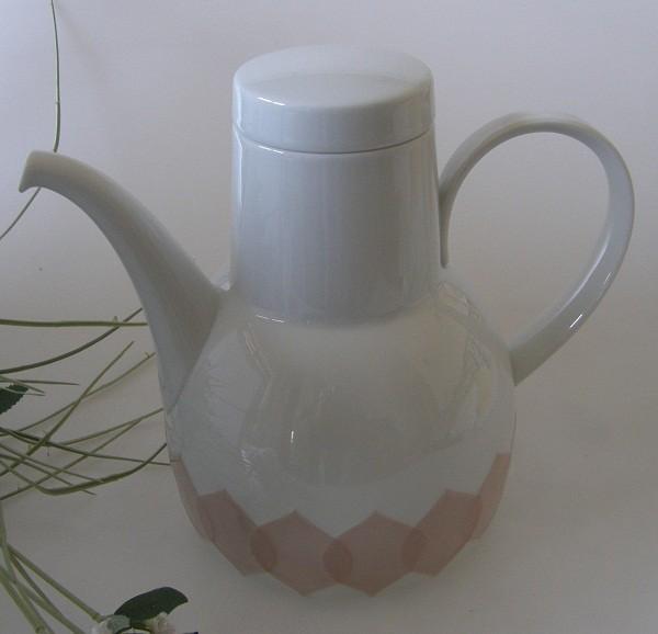 Rosenthal Lotus Gravad Rosa Kaffeekanne für 6 Pers. 1,40 l