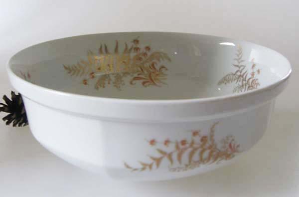 Gallo G.de Porcelaine Leonardo Fougere Goldfarn Servierschüssel 21 cm