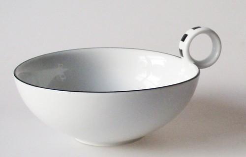 Seltmann Weiden Designer Geschirr Teetasse Dekor schwarz weiss karo