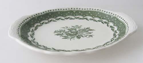 England Stratford Grindley grün Beilagenplatte klein oval 19,5 cm x 15,5 cm