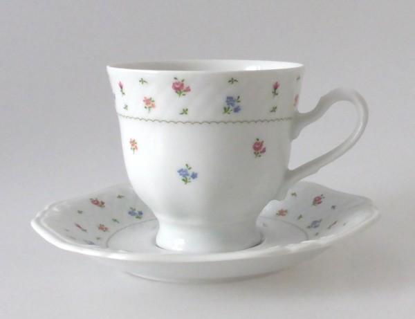 Eschenbach La Reine bunte Streublümmchen Kaffeetasse mit Untertasse