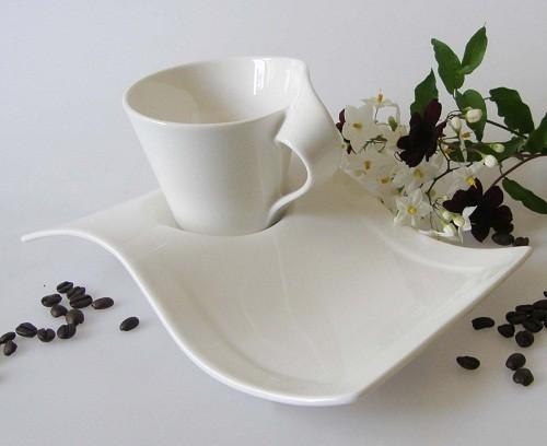 New Wave Caffe Kaffeetasse 2-tlg., 0,20 l weiss
