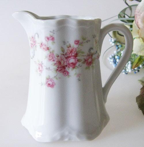 Hutschenreuther Racine Richelieu rosa Milchkännchen für 6 Pers.Höhe 8,5 cm