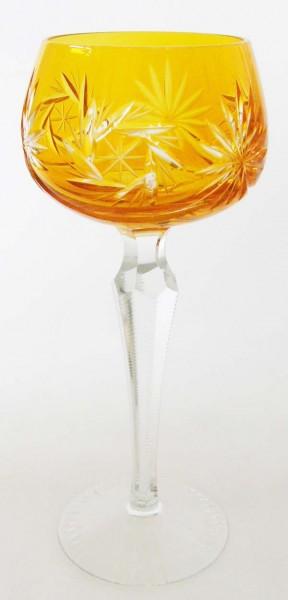 Dresden Crystal Römer Überfangglas Weinrömer Orange 19,5 cm