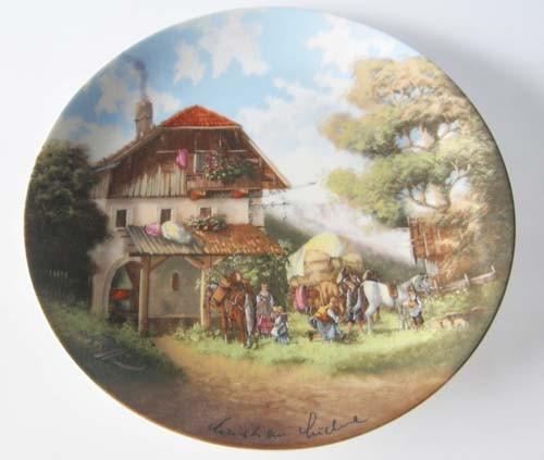 Seltmann Weiden Wand-/Sammelteller 19,5 cm Vor der Schmiede 1986