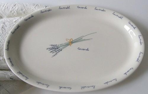 Van Cleef / Clayre Eef Lavendel Platte oval mittelgr. 30,5 cm