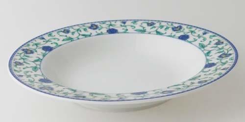 Winterling Suppenteller (Ø 22,5 cm) Randdekor blau Blumenmuster