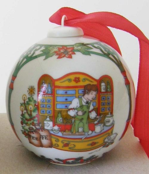 Hutschenreuther Porzellan Weihnachtskugel Kaufladen 1998