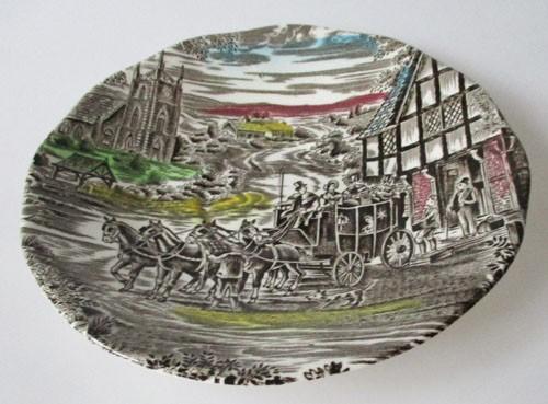 England Enoch Wedgwood Dickens Coaching Days Untertasse für Kaffeetasse 14,5 cm