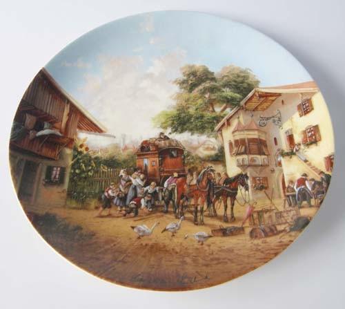 Seltmann Weiden Wand-/Sammelteller 19,5 cm Ankunft der Postkutsche 1986