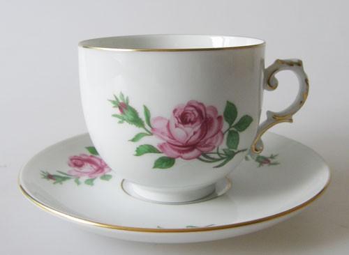 Alt Fürstenberg Rose Tasse Kaffeetasse