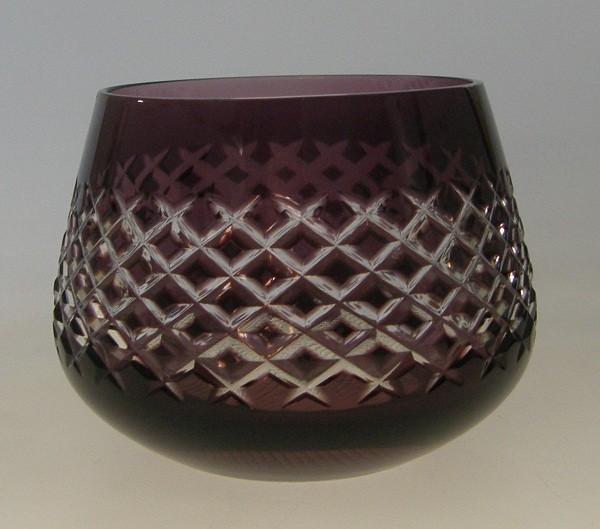 Römer Handgeschliffen Weinbecher Violett 6,5 cm