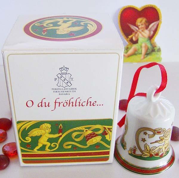 Tirschenreuth Bavaria Weihnachtsglocke Porzellan