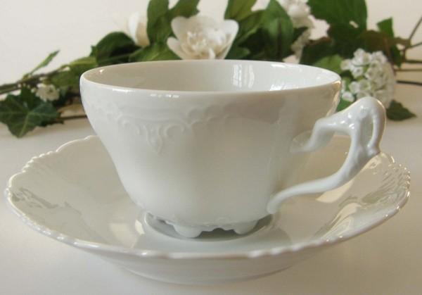 Königl. Tettau Ariadne weiss Teetasse mit Untertasse, klein 0,14 l