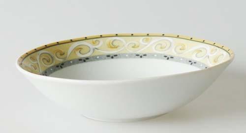 Winterling Dessertschale klein 14 cm Ornamente gelb grau