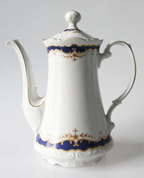 Mitterteich Form 2000 Kobalt mit Golddekor Kaffeekanne 1,30 l