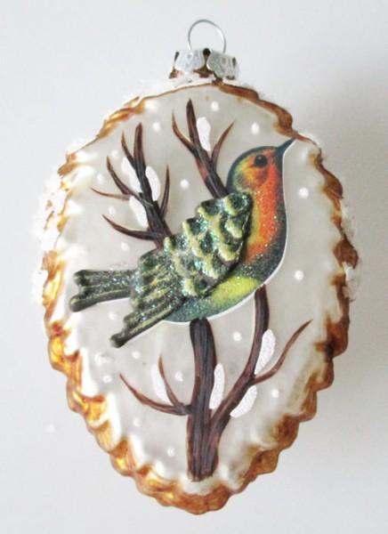 Kunstvoller Tannenzapfen 11 cm Baumschmuck Christbaumkugel Magic