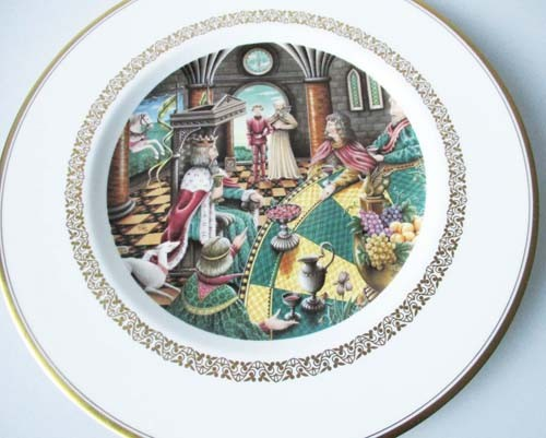 Sammelteller 23 cm Die König Arthur Teller Galahads Tafelrunde Royal Worcester
