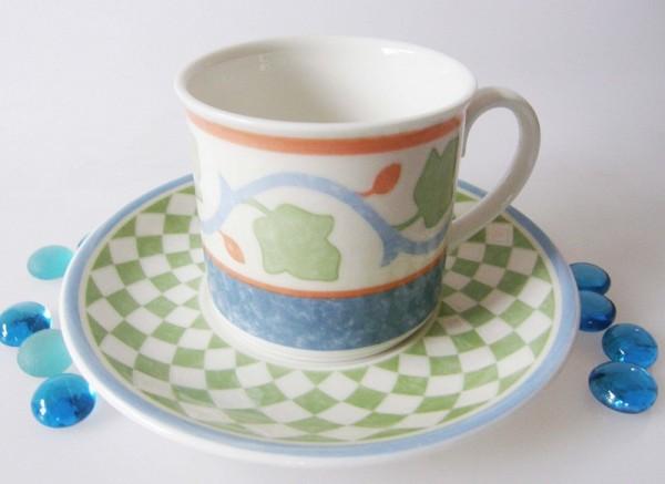 Villeroy & Boch Twist Lucca Ornamento Kaffeetasse mit Untertasse 2-tlg.