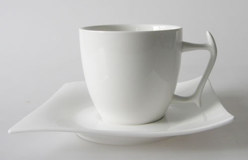 Maxwell & Williams Motion White Basics Kaffeetasse mit Untertasse