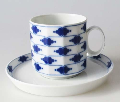 Rosenthal Polygon Korinth Kaffeetasse mit Untertasse