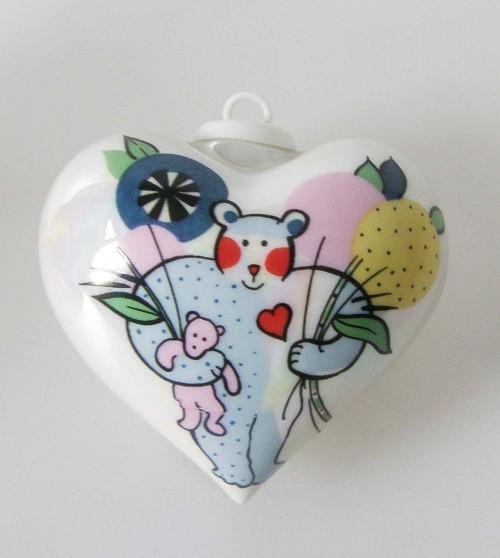 Villeroy & Boch Ornaments Porzellan Herz Motiv Bär