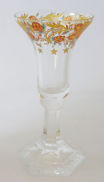 Rosenthal Maria Kerzenleuchter Höhe 13,5 cm Weihnacht Glas Kerzenhalter