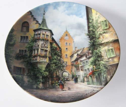 Seltmann Weiden Wand-/Sammelteller 19,5 cm Obertorturm zu Meersburg 1988