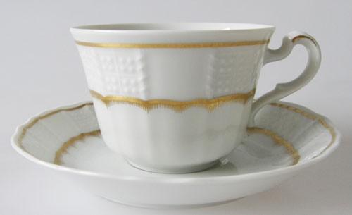 Villeroy & Boch Heinrich Chateau Flammgold Kaffee/ Teetasse mit Untertasse