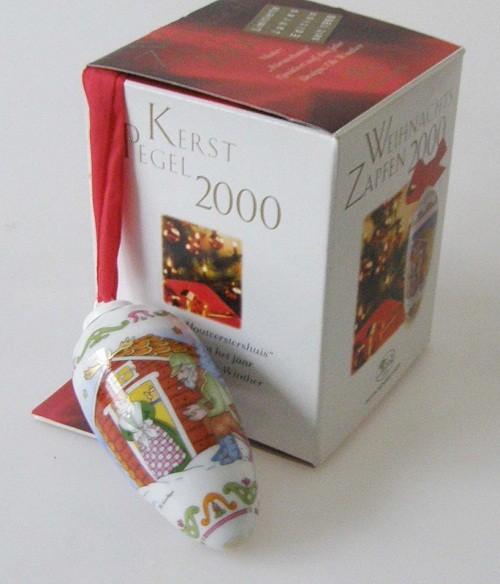 Hutschenreuther Porzellan Weihnachtszapfen Försterhaus 2000