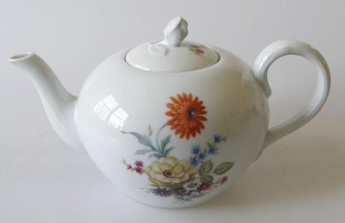 Hutschenreuther Maria Theresia Dekor mit bunten Blumen Teekanne 1,30 l