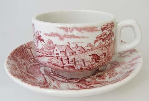 England Maddock rot Kaffee-/Teetasse mit Untertasse 0,16 l