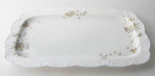 Rosenthal Monbijou Grüne Ranke Kuchenplatte klein, Beilagenplatte 26,5x16 cm