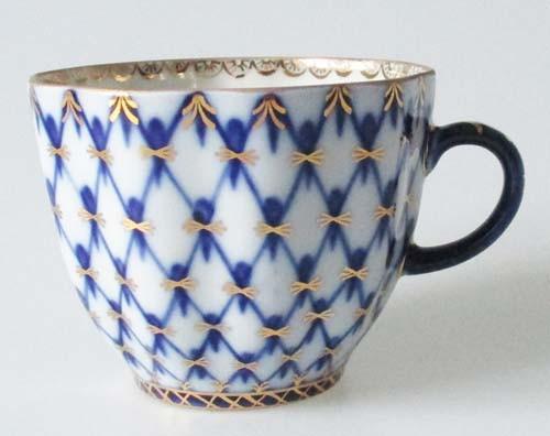 Lomonosov Kobalt Netz Kaffeetasse / Obertasse 0,14 l