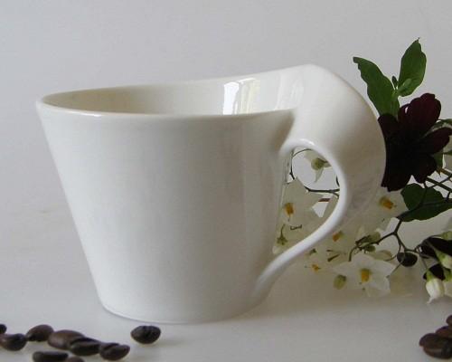 New Wave Caffe Kaffeeobertasse 1-tlg., 0,20 l weiss