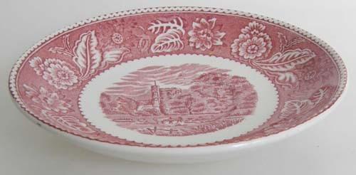 England Wood & Sons Burslem Woodland rot Untertasse für Kaffeetasse 14,3 cm