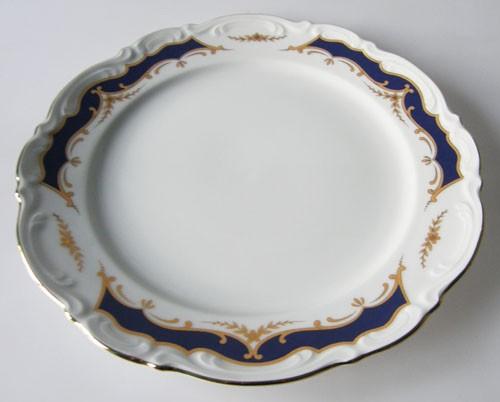 Mitterteich Form 2000 Kobalt mit Golddekor Frühstücksteller 19,5 cm