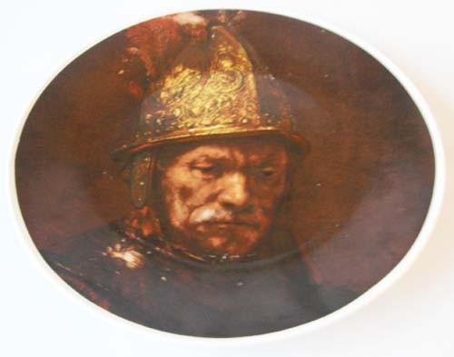 Seltmann Weiden großer Wand-/Sammelteller Rembrandt Der Mann mit Goldhelm 27 cm