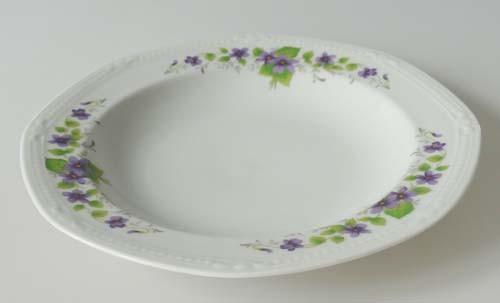 Mitterteich Form 140 Dekor Veilchen lila Suppenteller 22,5 cm