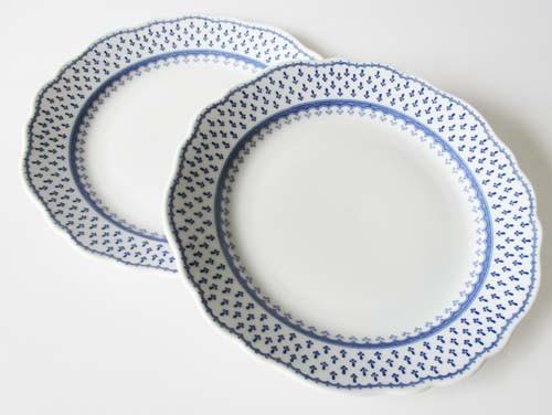 Hutschenreuther Maria Theresia 2 Frühstücksteller Ø 21,5 cm Landhaus blaues Muster