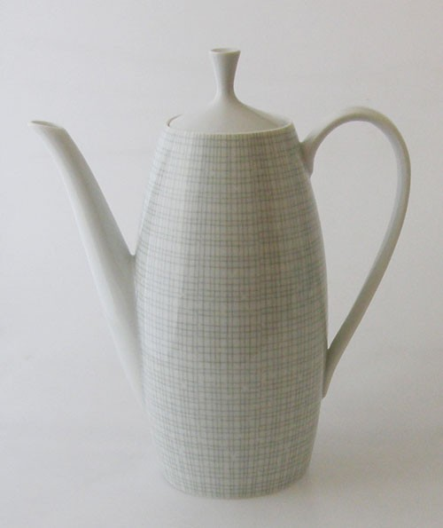 Arzberg Bastdekor Form 2025 grau-grün Filigran Kaffeekanne klein 0,80 l