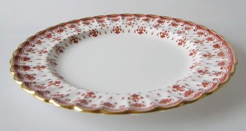 Spode Fleur De Lys rot Frühstücksteller 20,5 cm